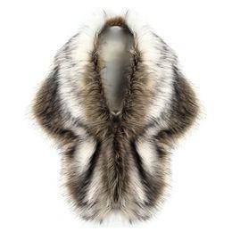 Nuevo 2018 Señoras de Las Mujeres de Lujo Faux Fox Chaleco de Piel Abrigo de Invierno Wharm Grueso Elegante Nupcial de La Boda Blanco Piel Chales Capes Chaqueta H1 desde fabricantes