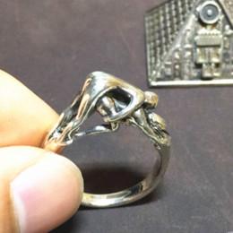 O sexo dos anéis on-line-Atlântico para restaurar antigas formas jóias anel o sexo masculino e feminino tridimensional anel erótico casais casais presente de casamento