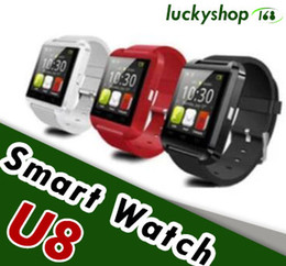 Wholesale Apple Mate - U8 Smart Watch Bluetooth Watch Phone Mate Watch for Android Samsung IOS With the Retai Box