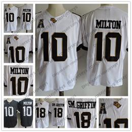 Wholesale Game Worn Jersey - NCAA UCF Knights #10 McKenzie Milton 18 Shaquem Griffin SM.Griffin Dark Gray White Stitched College Football Game Worn Jersey S-3XL