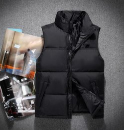 Wholesale Men S Vest Hoodies - 2018. High Quality New Winter men's Down puffer nOrth jacket Casual Brand Hoodies Down Parkas Warm Ski Mens face vest 60
