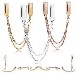 Herbstcharme online-2018 Herbst 925 Silber Schmuck Reflexionen Schwimmketten Sicherheitskette Charm Perlen für Armbänder Halskette für Frauen Schmuck