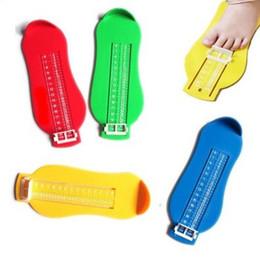 Recién Infantil Niño Regla de medición Bebé Niño Pies Longitud creciente Subíndice Herramienta de pie Prolongador Escala Medidor de medida de pie de bebé desde fabricantes