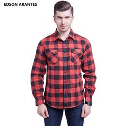 6b159a50dde EDSON ARANTES Мужские фланелевые классические рубашки 100% хлопок