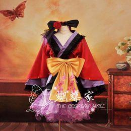 luka cosplay Sconti Vocaloid Project Diva2 Luka Oiran Kimono giapponese Cosplay Costume da donna, perfetta per te