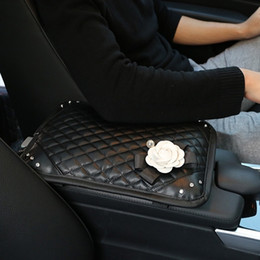 CARSHAPING BlingBling Car Interior Products, Diamond, Camellia, Lady Car, Caja de apoyabrazos decorativa, Estuche de mano Accesorios para auto desde fabricantes