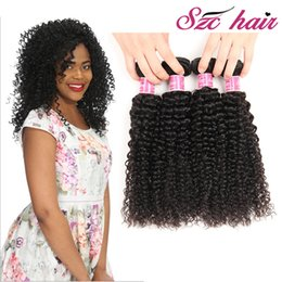 Wholesale Machining Manufacturers - SZC Mink Brazilian Virgin Hair Afro Kinky Human Hair 3 4pcs lot Brazilian Baby Hair Weave Straight Body Loose Deep Wave Bundles Manufacturer