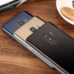 Nfc goophone онлайн-2019 Новейший Goophone S9 Plus S9 + 6,2-дюймовый отпечаток пальца 1 ГБ + 8 ГБ Показать 4 ГБ + 128 ГБ Показать поддельные 4G LTE настоящий 3G разблокированный телефон Четырехъядерный смартфон