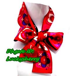 Wholesale Wholesale Handbags Printed - A01L- 688258# Famous brand designer BAG scarf, women's silk scraves,100% Top grade silk headband Can For Handbags , size 10*120 cm .