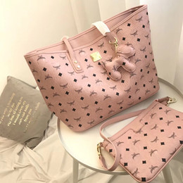 2019 handtaschen-sets Rosa sugao designerhandtaschen 2pcs / set hochwertige luxus tasche 2018 berühmte designer frauen handtaschen schultertasche 3 farbe luxus taschensatz günstig handtaschen-sets