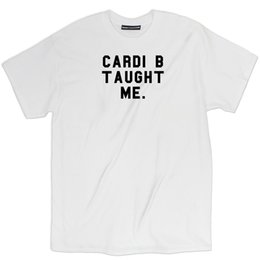 cae797ac48c Misky   Stone Cardi B Taught Me Fan Loose Fit Unisex Bardi Gang T-Shirt Tee