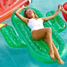 Jouets pour adultes en Ligne-Gonflable énorme cactus Flotteur 180 * 165 * 20 CM PVC Été En Plein Air Piscine Jouets Grand Floatie Amusement Adulte Enfants Nager Partie Jouet C4293