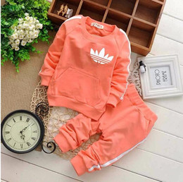 hot suit girls Promo Codes - New Baby Boys And Girls Suit Brand Tracksuits 2 Kids Clothing Set Hot Sell Fashion Spring Autumn Children's Dresses Long Sleeve A02