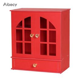 2019 scatola di immagazzinaggio della scatola di legno Scrittorio di legno dell'organizzatore di trucco dell'armadio di caso dell'armadio di legno dell'armadio del cassetto del cassetto dell'armadio da scrivania scatola di immagazzinaggio della scatola di legno economici