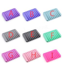 2019 mulini utensili Piatti di sapone in silicone a 16 colori. Resistenza allo scivolamento creativa. Resistente al sapone morbido. Resistente al mulino mulini utensili economici