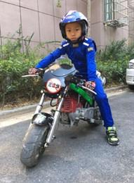 schwarzer motorrad-rennanzug Rabatt Kinder-Auto-Rennanzug Motorradrennen Jacke Hosen Overall für Jungen und Mädchen 3colors schwarz blau und rot.
