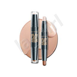 oil effects Coupons - kiss beauty 3D Bronzer Highlighter Stick Multi effect Concealer Play 101 Stick Double Head Face body Makeup Concealer Pen Texture Contour F