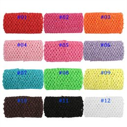 Wholesale crocheted tube tops - 12pcs lot 7*14cm Children Elastic Chest Wrap Knit Girl Crochet Headband Tutu Tube Tops DIY Skirt