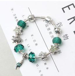 papageiencharme Rabatt 925 silberne Pandora Armbänder für Armband-Valentinstaggeschenk Schmucksachen des Frauen-Charme-Kristallkorne-Papageien-DIY Freies Verschiffen