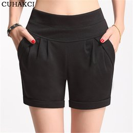Wholesale Plus Size Women S Boots - Wholesale- High Top quality summer Shorts Women Candy Color High-Waist Imitate Chiffon Short Solid Boots Shorts Casual Wear Plus Size S-4XL