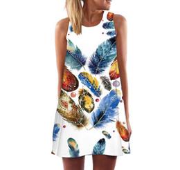 Wholesale Digital Flora - New Creative Women Summer Dress Sleeveless Digital 3D Print Dresses Above Knee Short A-Line Casual Beach Dresses