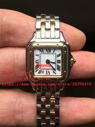 Proveedores de oro blanco online-Los proveedores de fábrica la última versión de alta calidad de movimiento de cuarzo japonés 22 mm de línea blanca 18 k relojes de mujer de oro amarillo