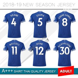 2018 Everton home blue Soccer Jersey 18 19  10 SIGURDSSON Everton soccer  Shirt 2019   11 WALCOTT  6 JAGIELKA football shirts 93cbd3189