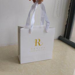 f204dbab98 Discount gift bag shop - Wholesale 1000PCS Lot 18x18x8cm Luxury gift  clothes white paper shopping bags