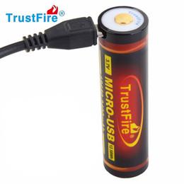 lithium-ionen-ladegerät Rabatt Trustfire-Batterie 18650 3.7V 3400mAh nachladbare Li-Ionbatterie Unterstützung MICRO USB-Aufladeeinheit mit Schutzbrett