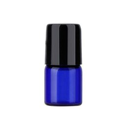 Micro mini rullo online-1ml 2ml 3ml Mini vetro micro cobalto blu su bottiglie di vetro con sfere in metallo per profumo