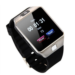 Wholesale Gsm Silver - DZ09 Bluetooth Smart Watch Phone Mate GSM SIM For Android iPhone Samsung HTC LG Huawei Cell phone 1.56 inch Free DHL smartwatches