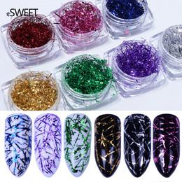 Nuova manicure oro e argento paillettes seta manicure fai da te decorazione sette colori laser raggio smalto per unghie, unghie strumento da decorazione oro per le unghie fornitori