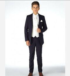 Wholesale Little Boys Wedding Suits - 2018Boys Tuxedo Boys Dinner Suit For Wedding Formal Suits Tuxedo for Kids Formal Occasion Suits For Little Men (Jacket+Pants+Vest)