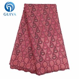 Wholesale White Swiss Cotton Voile Lace - Free Shipping! 2018 African Lace Fabric Swiss Voile Lace High Quality Swiss Voile Lace In Switzerland For Dresses GYCL0032