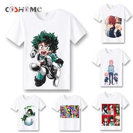 Wholesale Top Anime Cosplay Costumes Female - Coshome Boku No Hero Academia T-shirts Cosplay Costumes My Hero Academia T shirts Izuku Midoriya Men Women Short Sleeves Tops