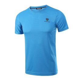 Homens por atacado Quick Dry Respirável T-Shirt Da Primavera Verão Aptidão Hip Hop T-shirt de Manga Curta Jersey dos homens T Camisa MC0278 de Fornecedores de vestido roxo longo uk