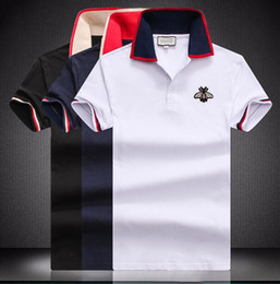 Canada Nouveau polo revers mode hommes T-shirt décontracté été marque de conception classique étudiants manches courtes tops polo broderie homme G747 supplier lapel embroidery designs Offre