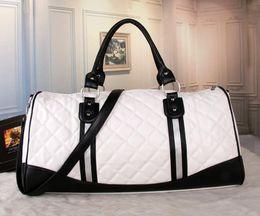 Wholesale Printed Hand Bags - women duffle bag women travel bags hand luggage luxury brand designer travel bag men pu leather handbags large cross body bag totes 55cm