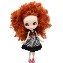 ICY Nude Blyth Doll Per la serie No. BL2231 / 2237 Capelli afro allo zenzero Labbra scolpite Compagno con sopracciglio Corpo articolato 1 / 6bjd da