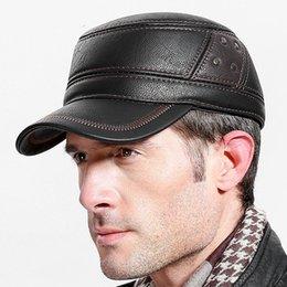 Fibonacci calidad de la marca de mediana edad gorra de béisbol de los  hombres de cuero remiendo ajustable flatcap otoño invierno adulto papá  sombreros ... b8bd10ab22f