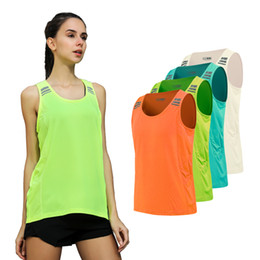 d1fd7e2b360f8e Discount womens yoga tank top - Yoga Vest Sleeveless Solid Color Loose  Quick Drying Running Gym