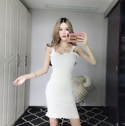 16e94fb3119 Новое летнее женское платье 2018 года сексуально и цельноцветно