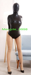 body métallisé sexy Promotion Costumes Sexy Femmes Costume Court Nouveau Costume Noir Métallique Court Brillant Costumes Catsuit Costumes Unisexe Costumes De Body Court Avec Le Dos Long Zip M350
