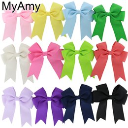 Wholesale Hair Accessories Little Girl Headbands - Free Shipping!40pcs lot Little Girls' Grosgrain Ribbon Hair Bows, Pinwheel Cheer Bows WITH Hair Clips,Kids Hair Accessories HJ045+4.5cm