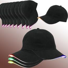 ha condotto il cappello del cappello del cappello Sconti Berretto da baseball Led Hat facilmente regolabile Light Up Berretto da baseball Lampeggiante Bright Donna Uomo Sport Hat per Hip Hop Party Jogging Camping
