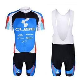 marcas de ropa mtb Rebajas 2018 CUBE marca Hombres Ciclismo Jersey Anti UV baberos cortos establecidos Verano MTB bicicleta Ropa Ciclismo triatlón Quick Dry Bicicleta Ciclismo