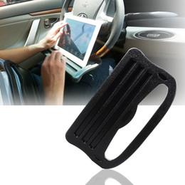 pc tarjeta portátil Rebajas Soporte de coche para mesa de la tarjeta del volante del coche para la PC del iPad Galaxy Nexus del teléfono de Ipad del ordenador portátil con la superficie acanalada