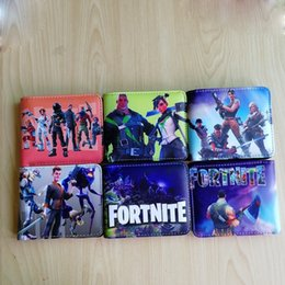 Wholesale gifts bags for kids - Hot Game FORTNITE Cosplay Wallet With Card Holder Coin Pocket Men's Short Purse Cartoon Figure Toys Action Toys for Kids Gift