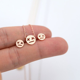 "Fashion cartoon expression pendant necklaces ""X X"" eyes glazed expressions necklaces Game over expression pendant necklaces Coupons"