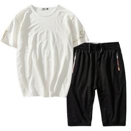 Wholesale Large Size Tracksuits - Large Yard Tracksuit Sport Suit Men Shorts Set 2 pcs Sets Plus Size L 8XL Summer Men Training Suit